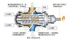 螺杆式真空泵的抽气原理图文介绍